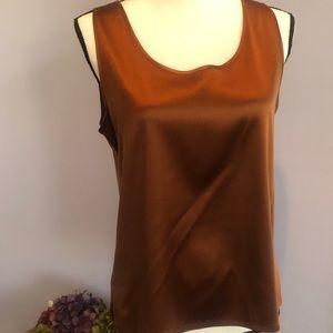 Chico's 100% silk shell in copper - size M